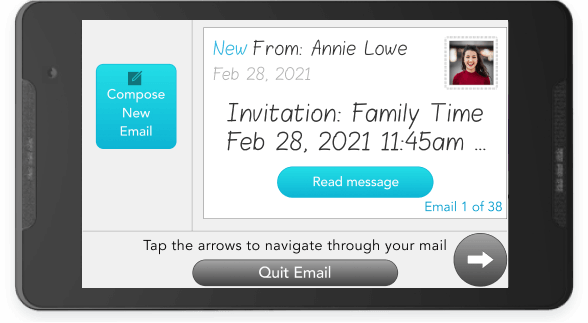 Zoom video call invite shown in the Email app