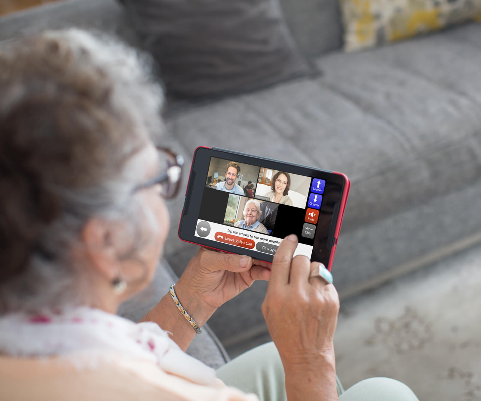 GrandPad user on a video call