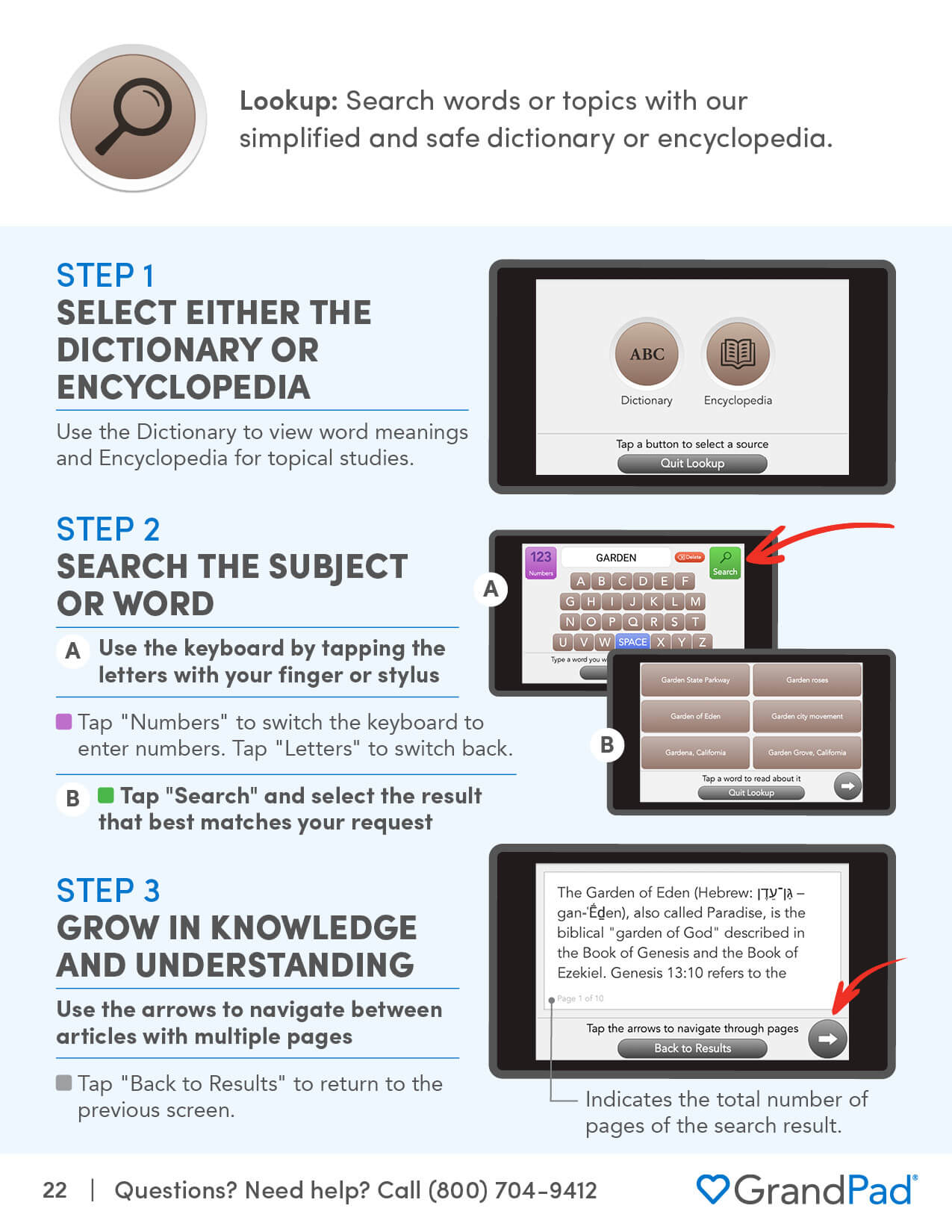 Instruction on using the Lookup app