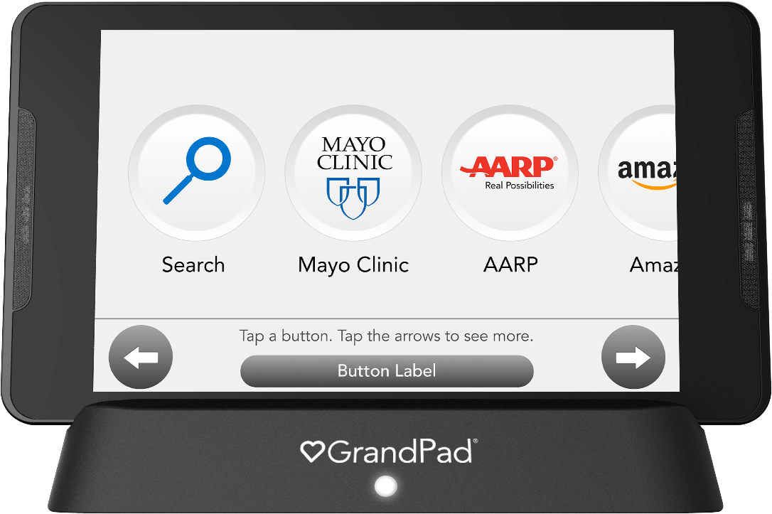 Internet site button selector