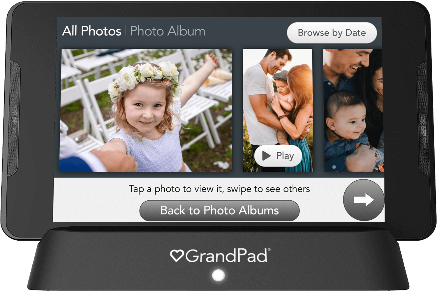 Photos timeline view