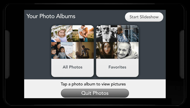 Photos album selector screen