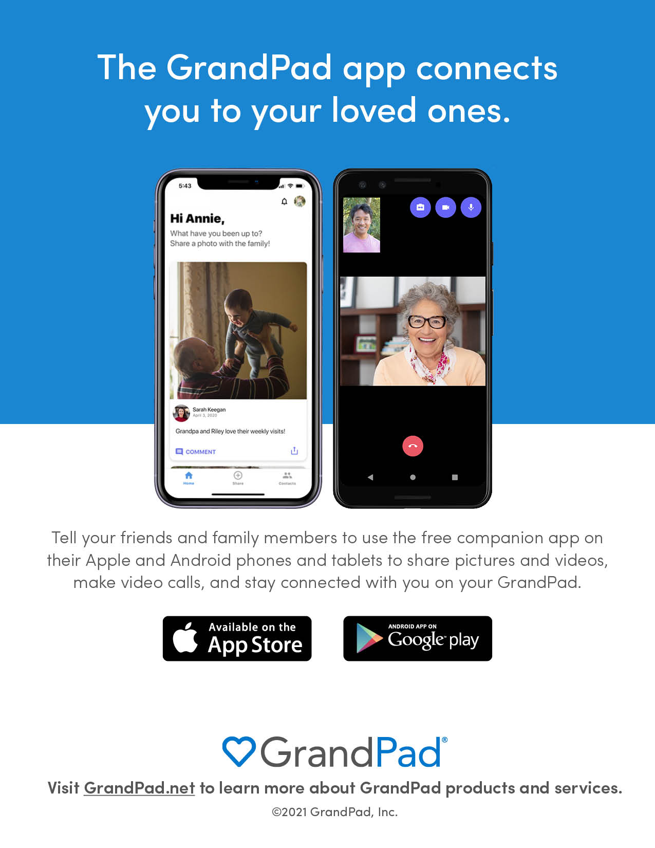 Be sure to connect family with the free companion app