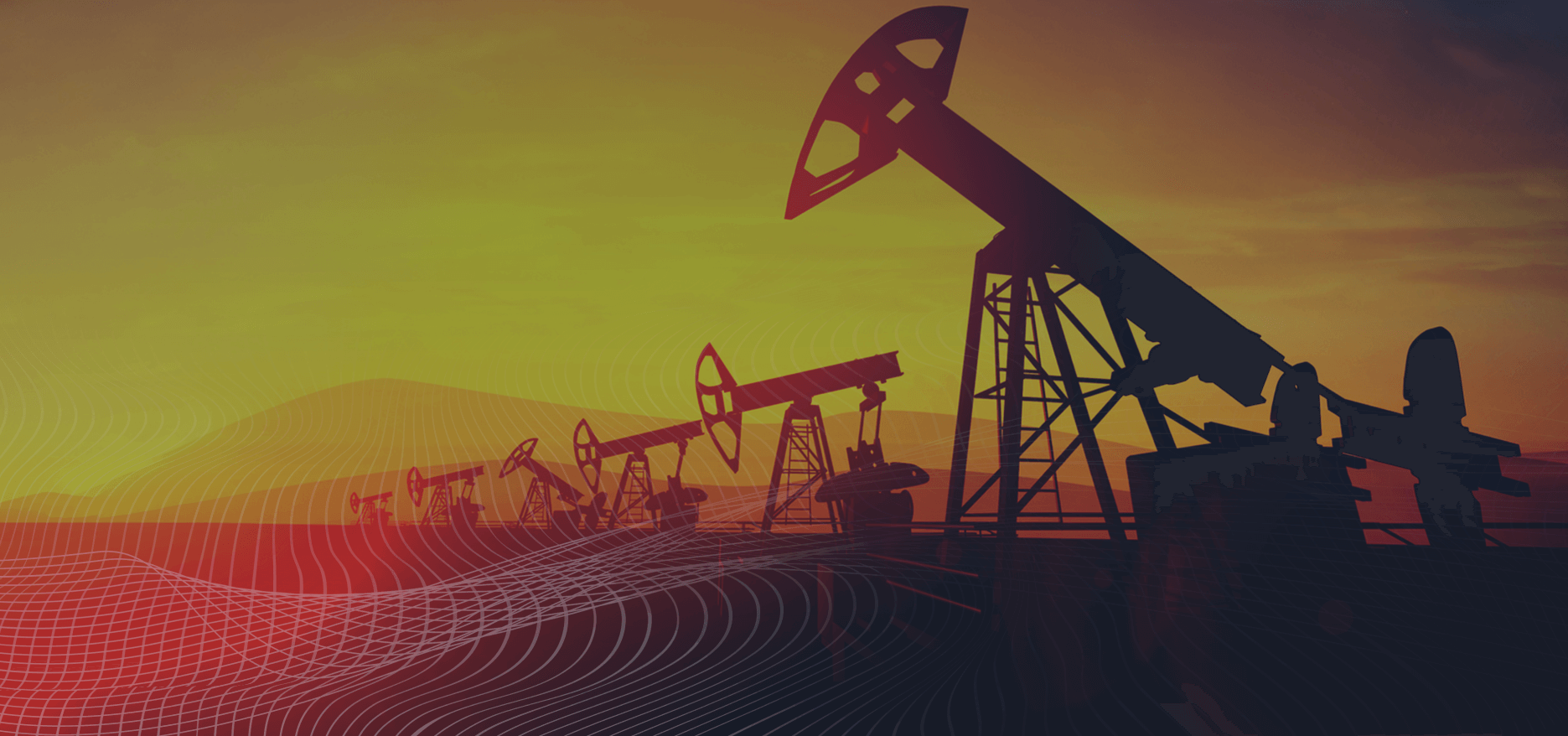 Several oil rigs drilling oil