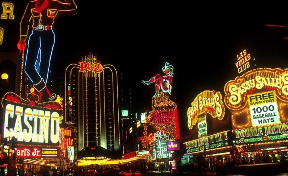 Las Vegas buildings during the night