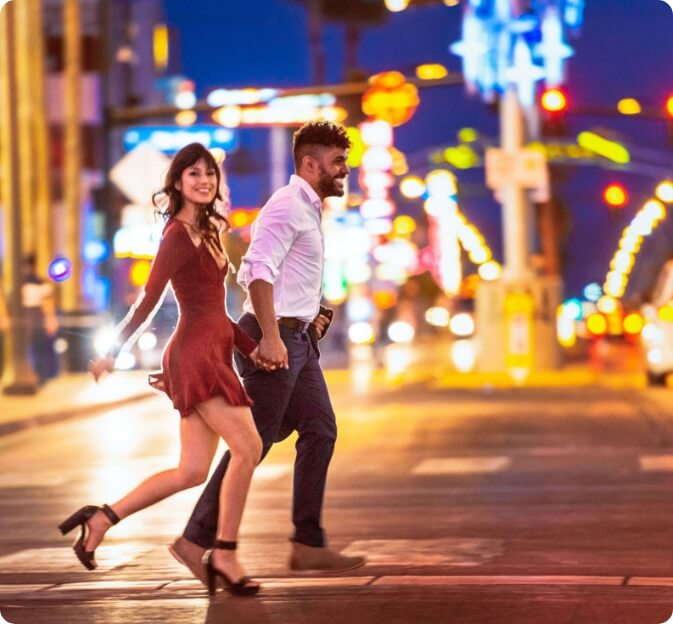 The People of Las Vegas walking in the streets