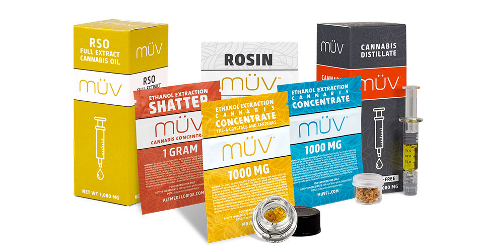 Group shot of MUV concentrate products