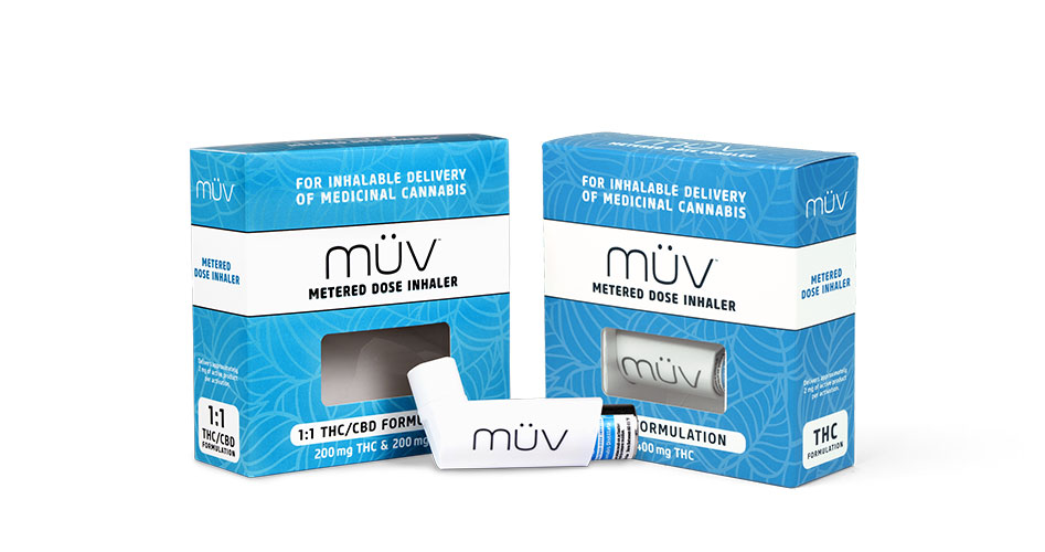 A group shot of MUV Cannabis Inhalers Products