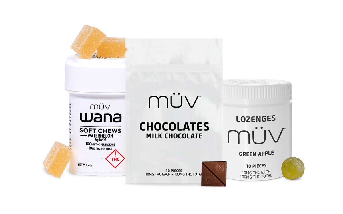 A group shot of MUV Cannabis Flower Products