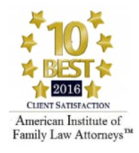10 Best 2016 Client Satisfaction American Institute of Family Law Attorneys