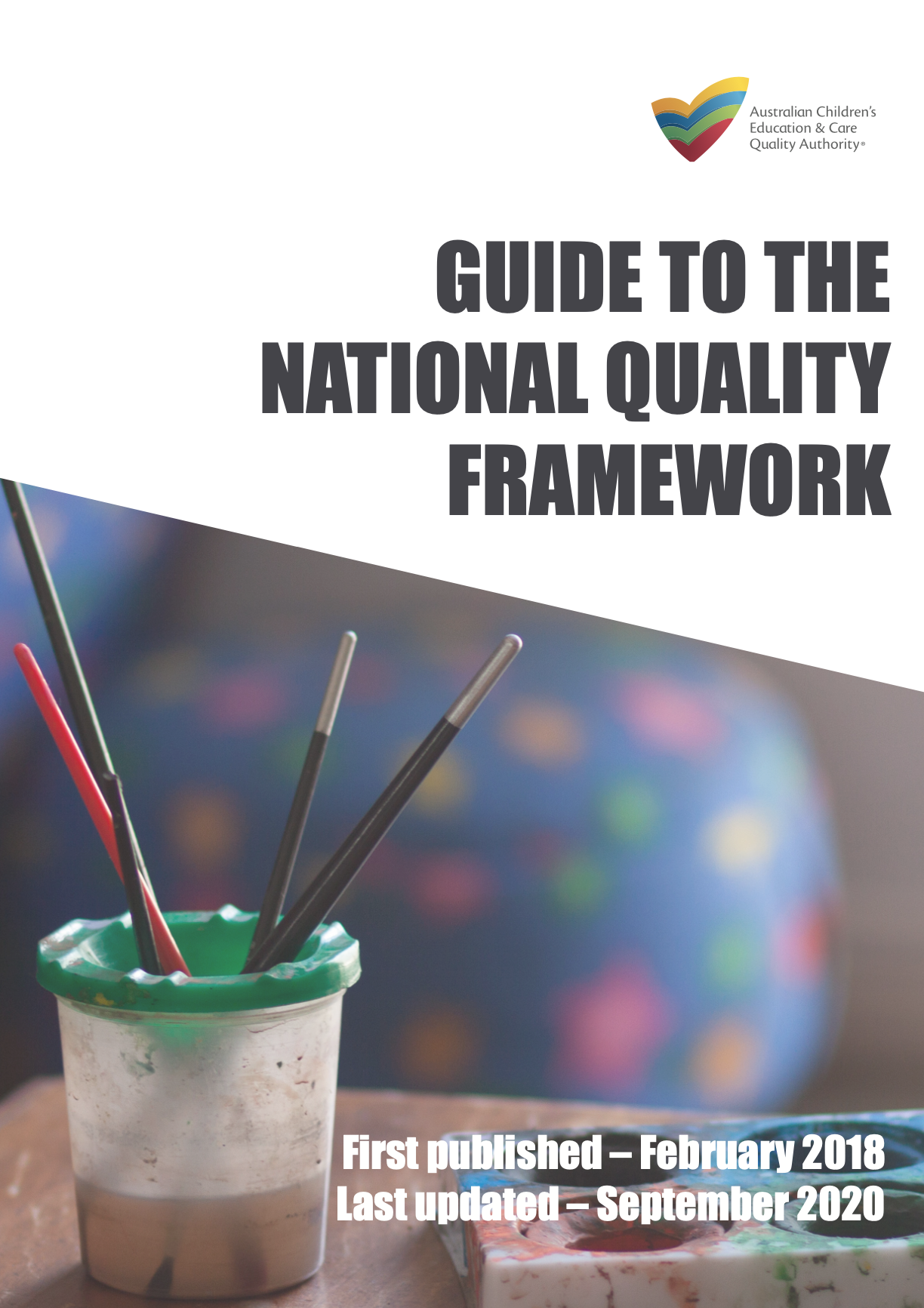 The front page of the Guide to the National Quality Framework