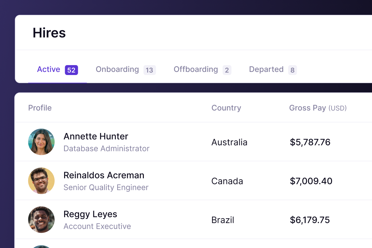 Panther's hires dashboard snippet