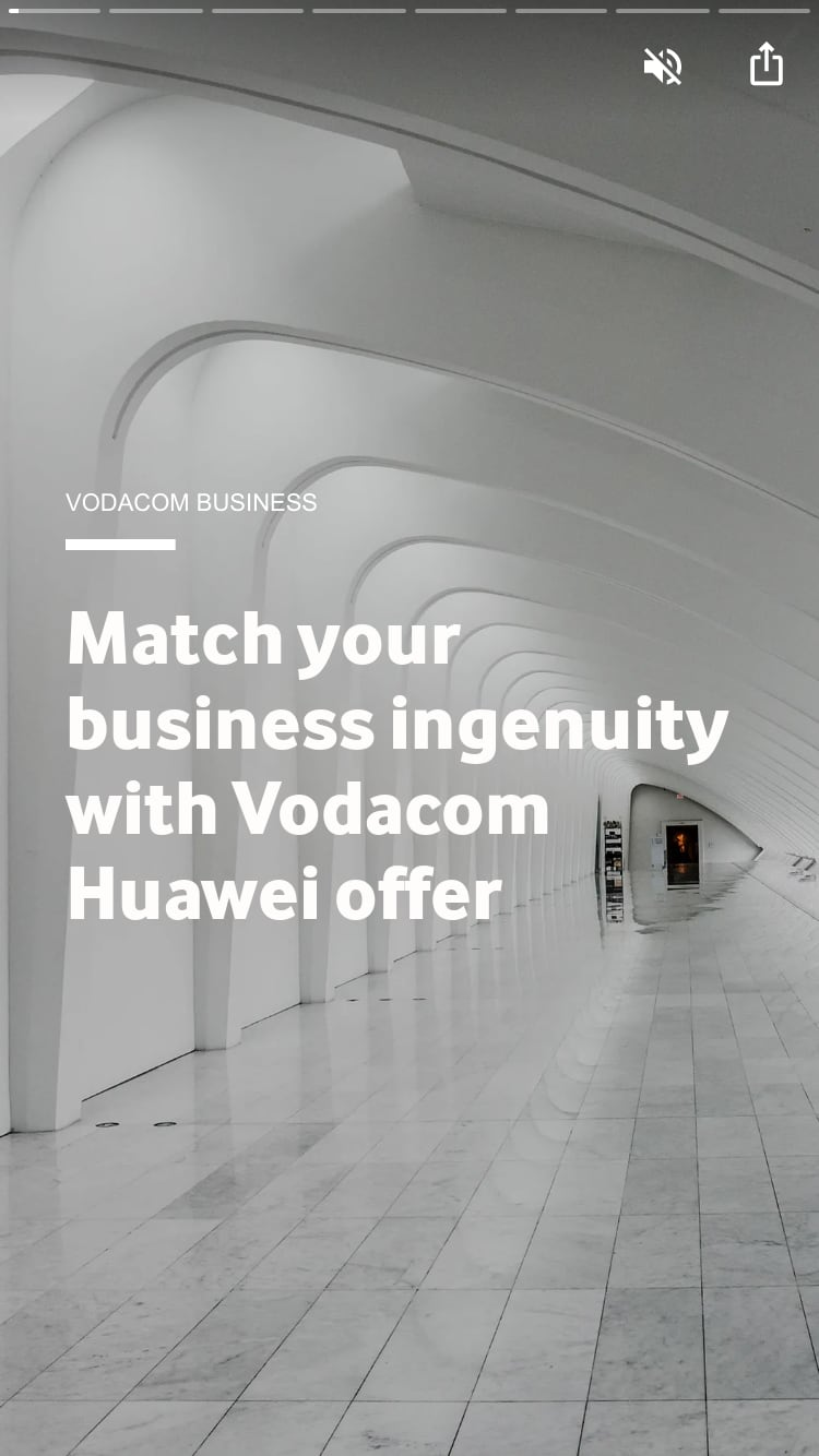 Match your business ingenuity with Vodacom Huawei offer
