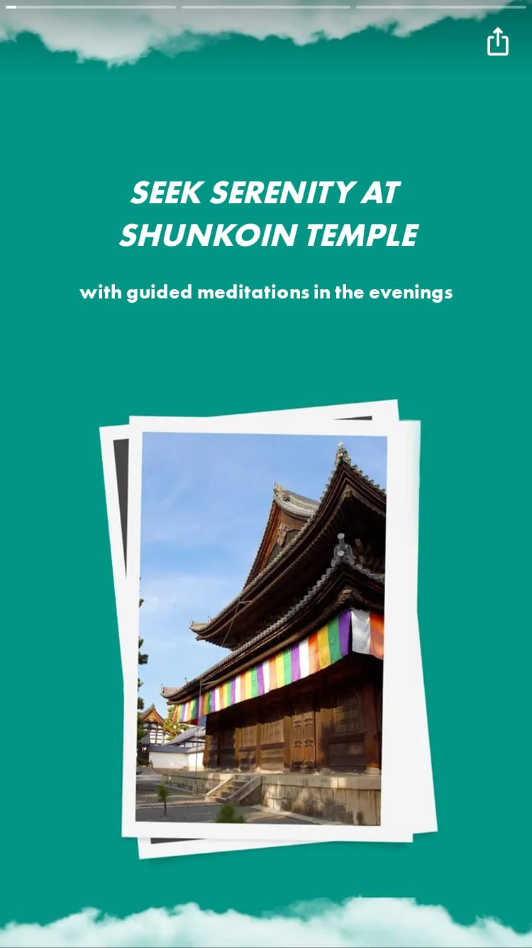 with guided meditations in the evenings
