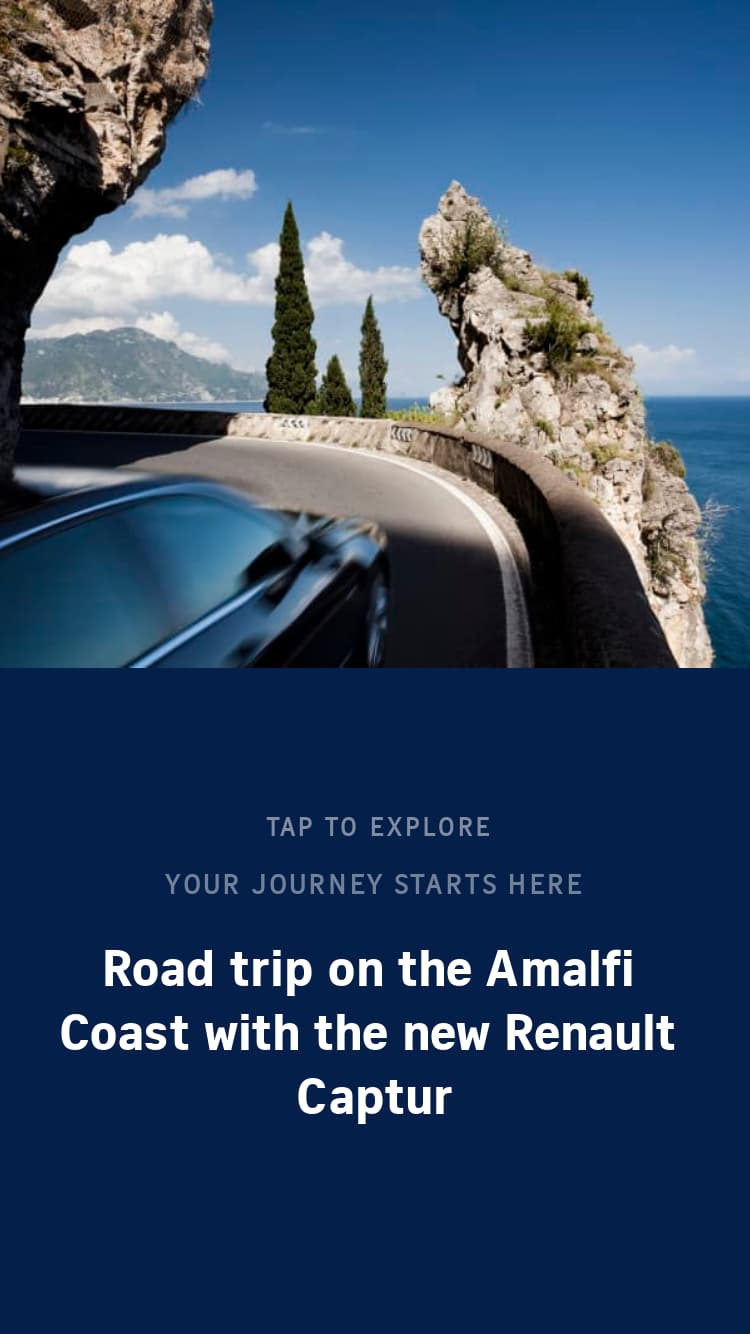 Road trip on the Amalfi Coast with the new Renault Captur