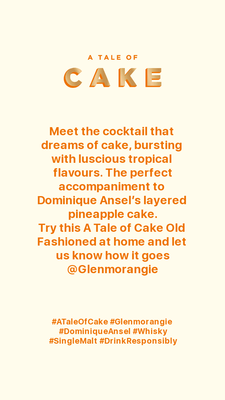 Glenmorangie A Tale of Cake Old Fashioned recipe-AD TEST