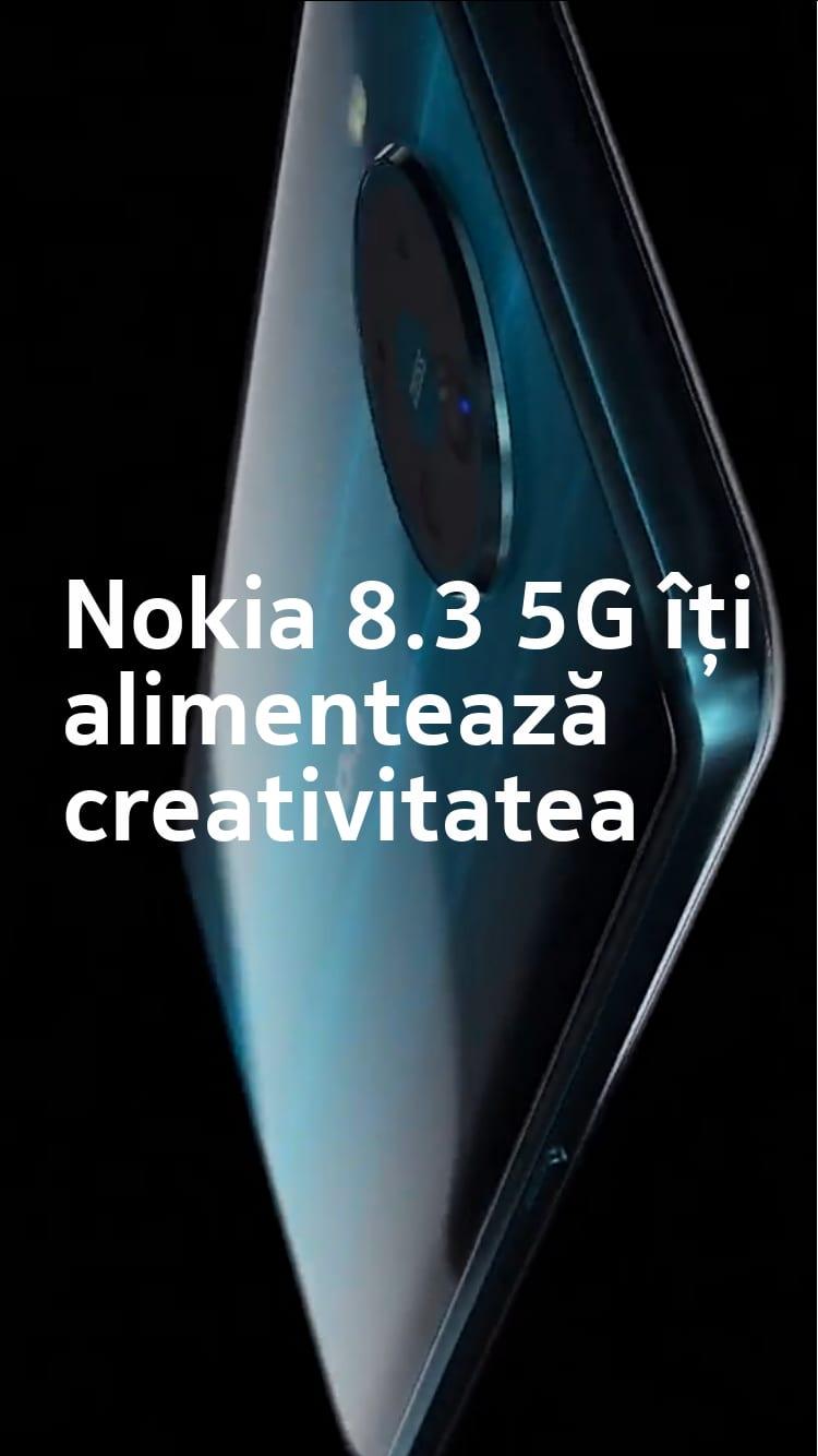 Nokia 8.3 5G îți alimentează creativitatea