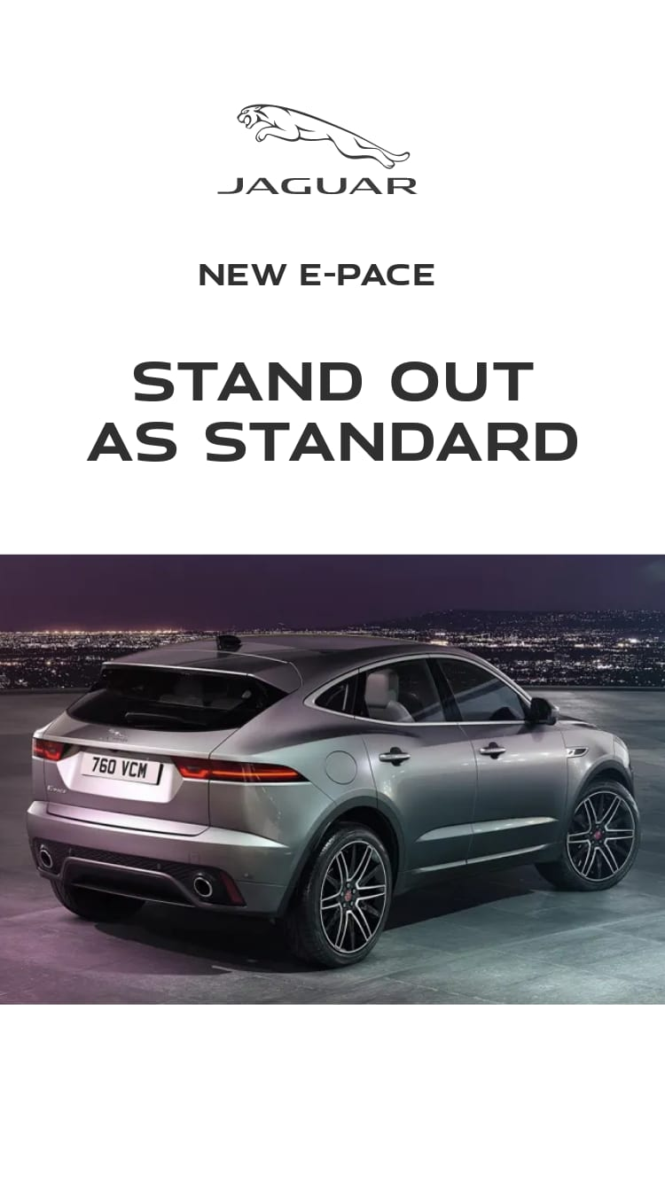 New E-PACE. Stand out as standard.