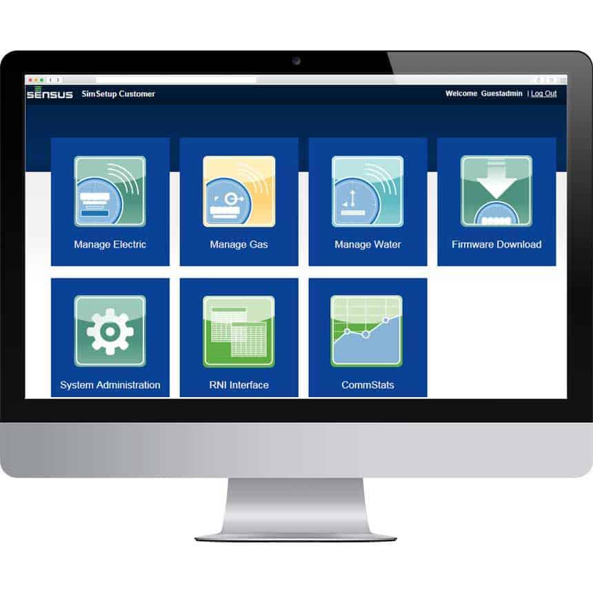 screenshot of the Regional Network Interface of the FlexNet communication network