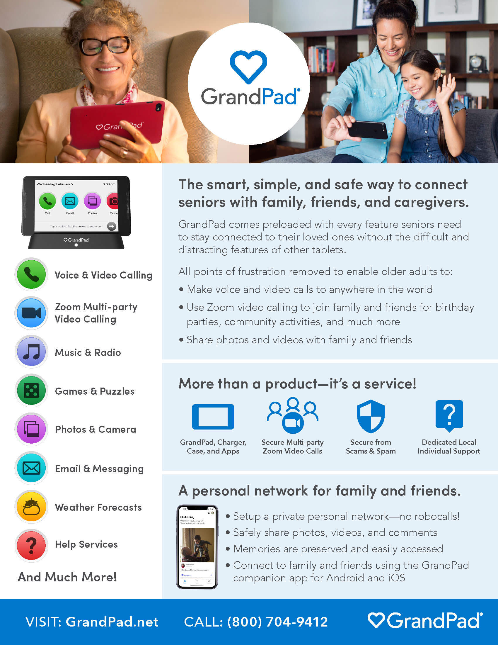 GrandPad Overview Flyer