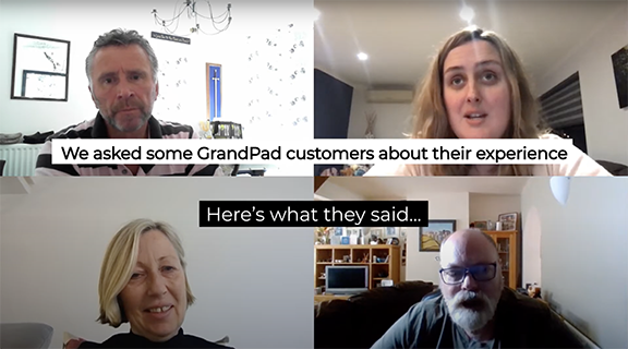 Hear from four individuals and their experiences with GrandPad.