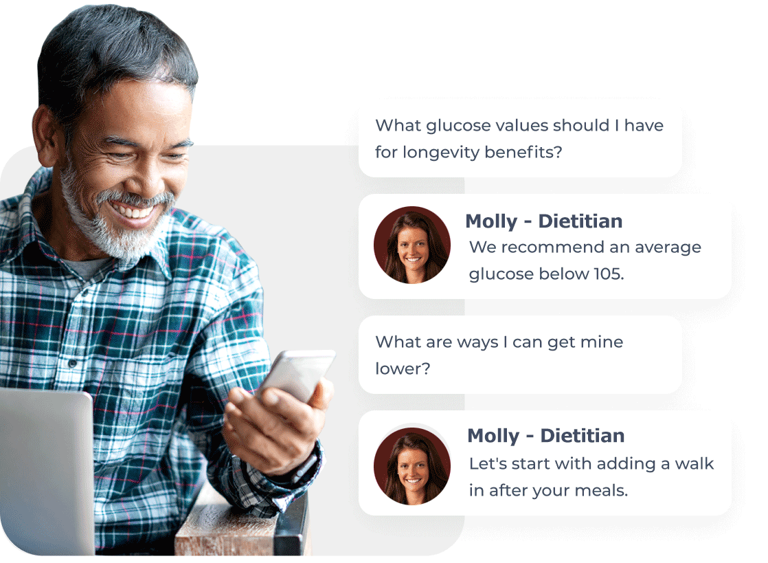 Dietitian services in-app chat