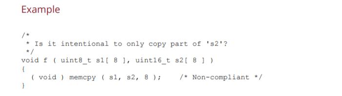 Screenshot of a non-compliant solution.