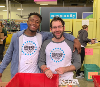 Warrior's volunteering at a charity.