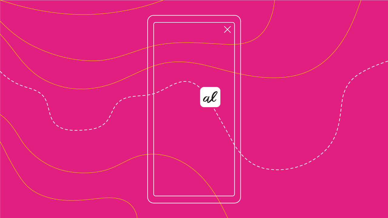 imagem de um celular com app Alice
