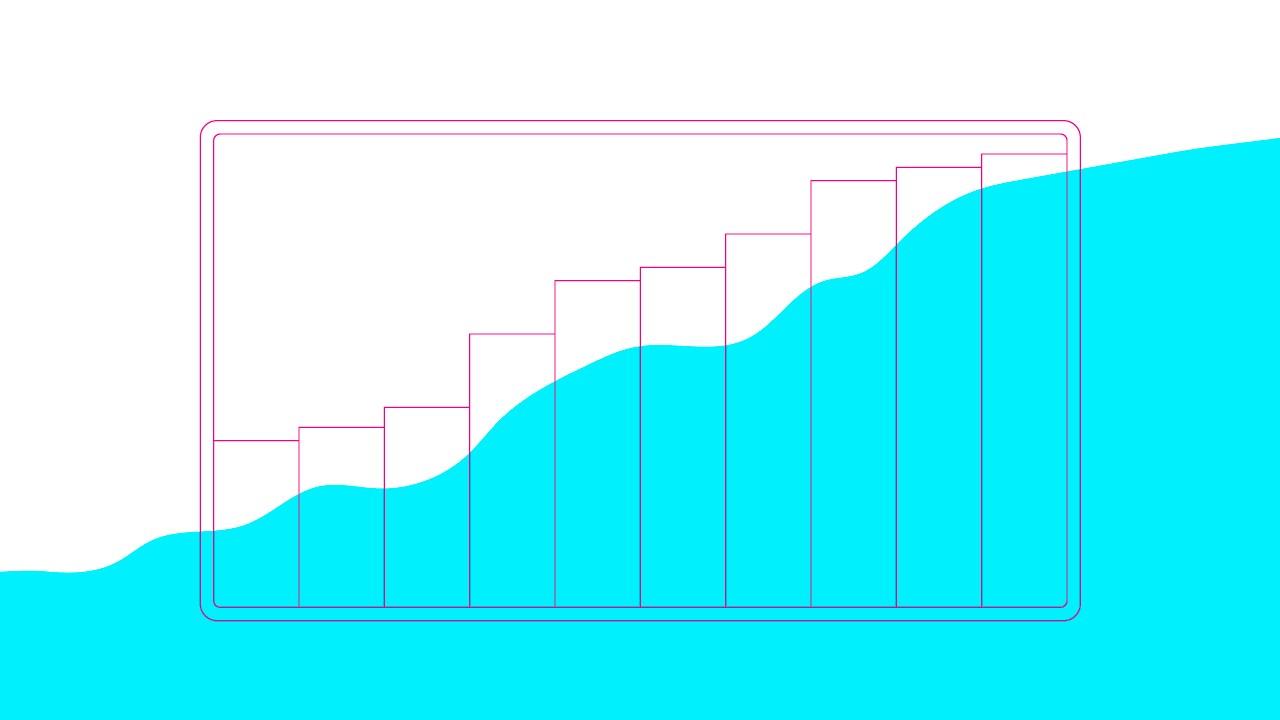 gráfico mostrando aumento dos índices de saúde