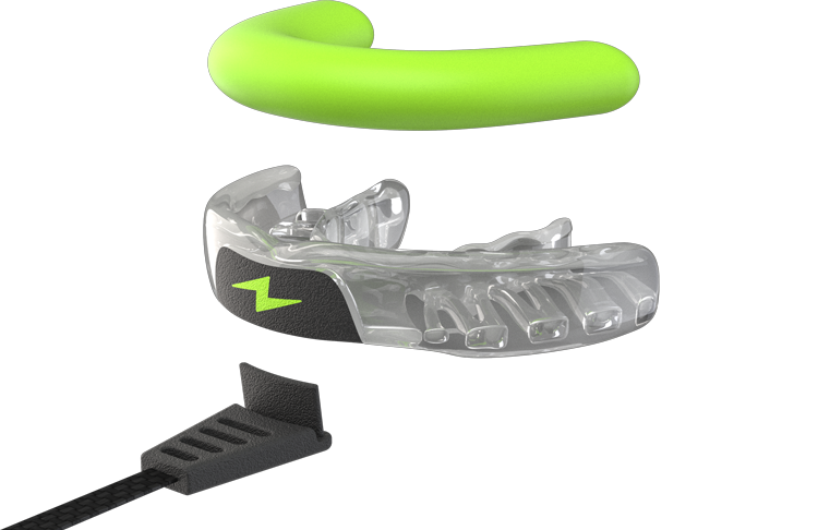 disassembled view of zone mouthguard