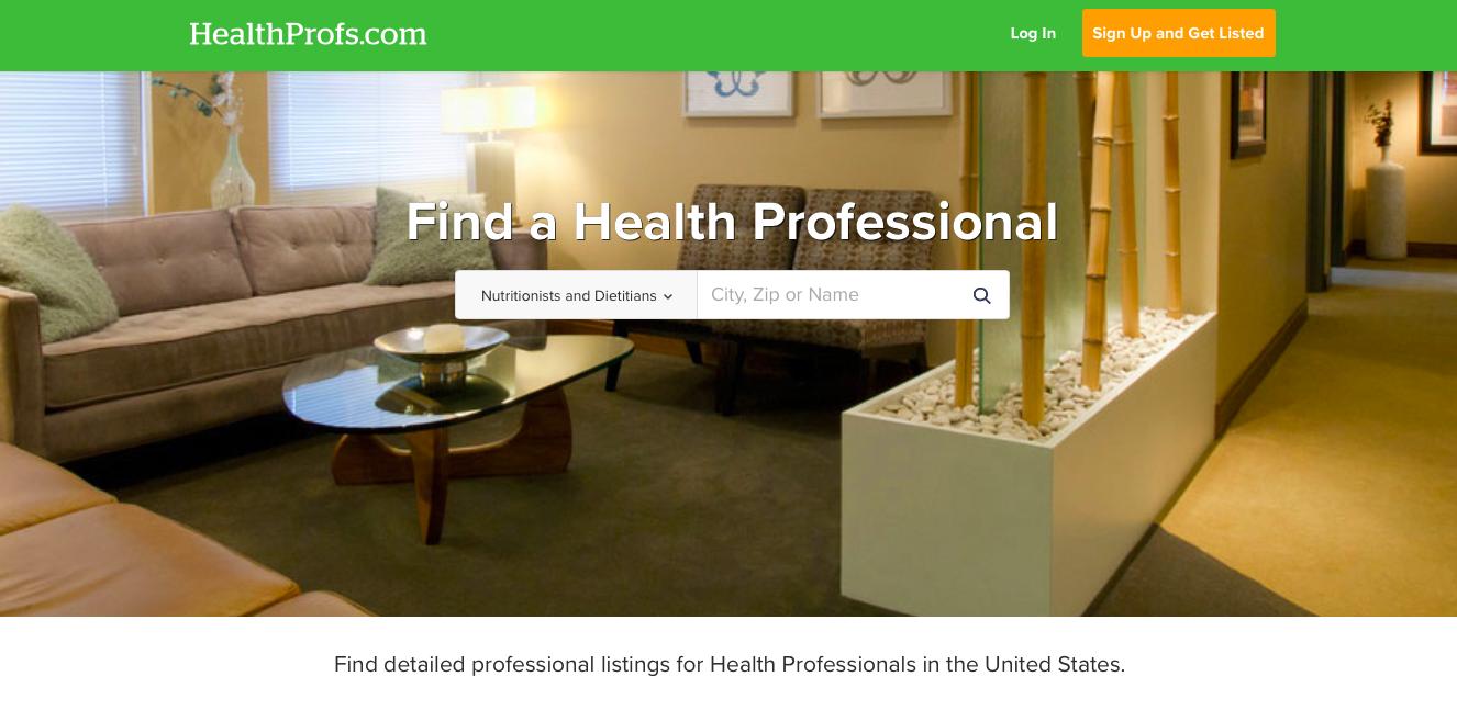 HealthProfs.com Healthie Example