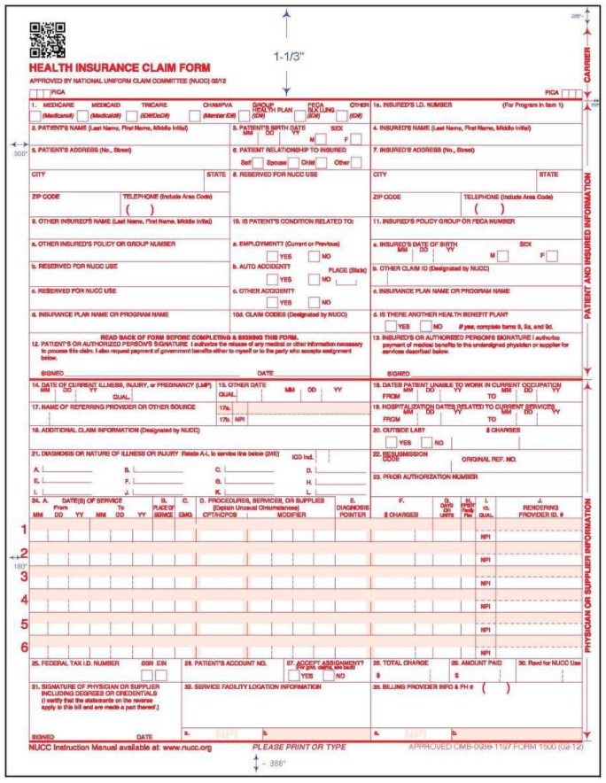 What Is A CMS 1500: Understanding The CMS 1500 Form
