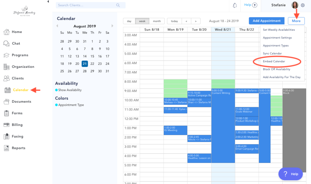 Add Calendar to Website - Make Appointments Online