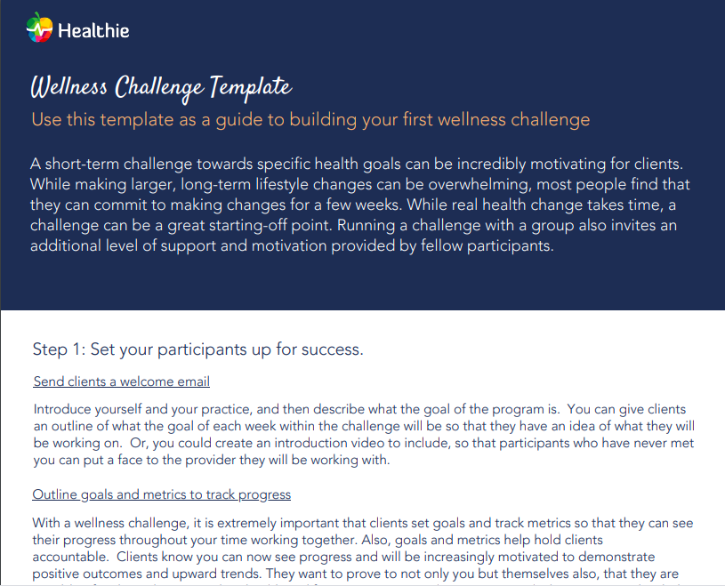 The Ultimate Online Wellness Challenge Template