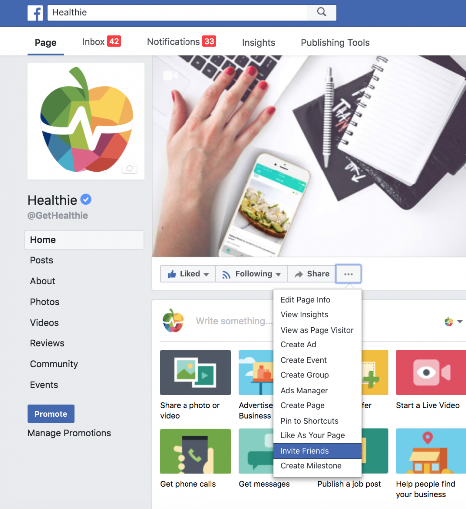 How To Create a Nutrition Practice Facebook Business Page