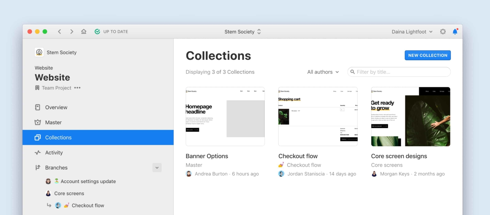 collections view in abstract