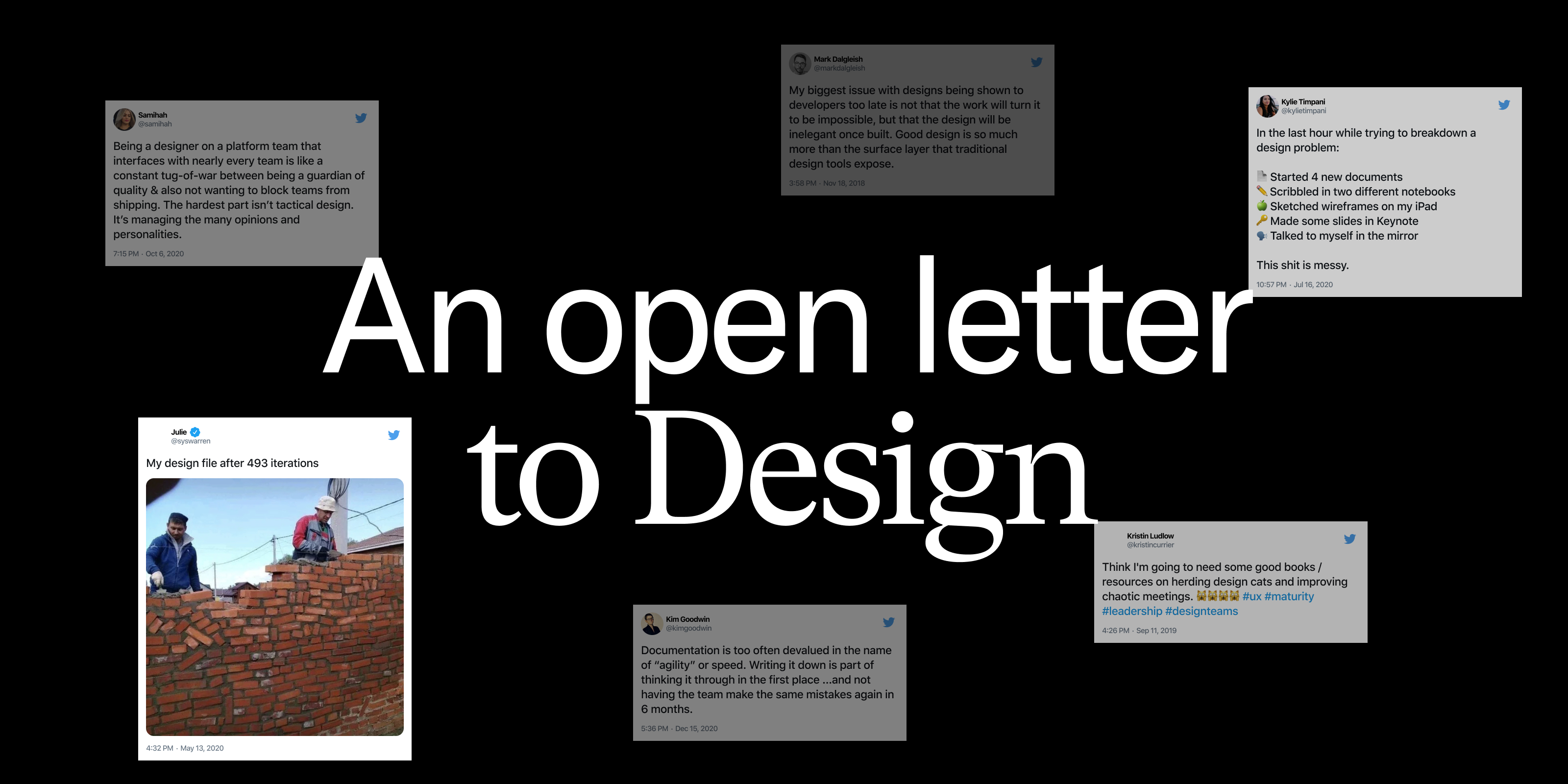 An open letter to Design