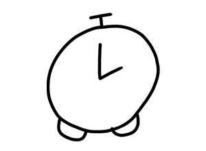 Analog clock set at two pm animation