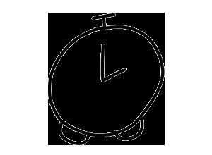 Analog clock set at two pm animation