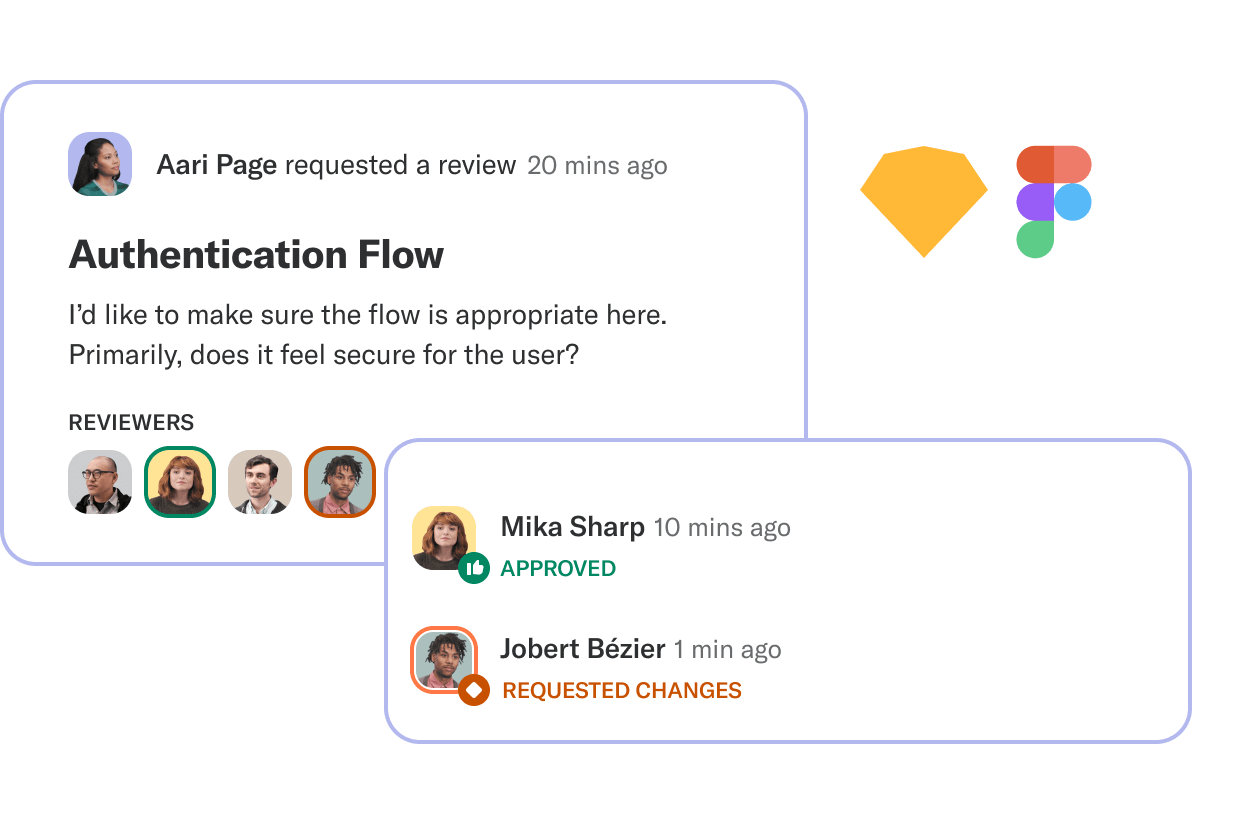 Notebooks integrating with Sketch and Figma
