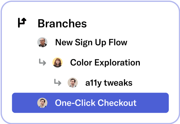 Branches UI snippet