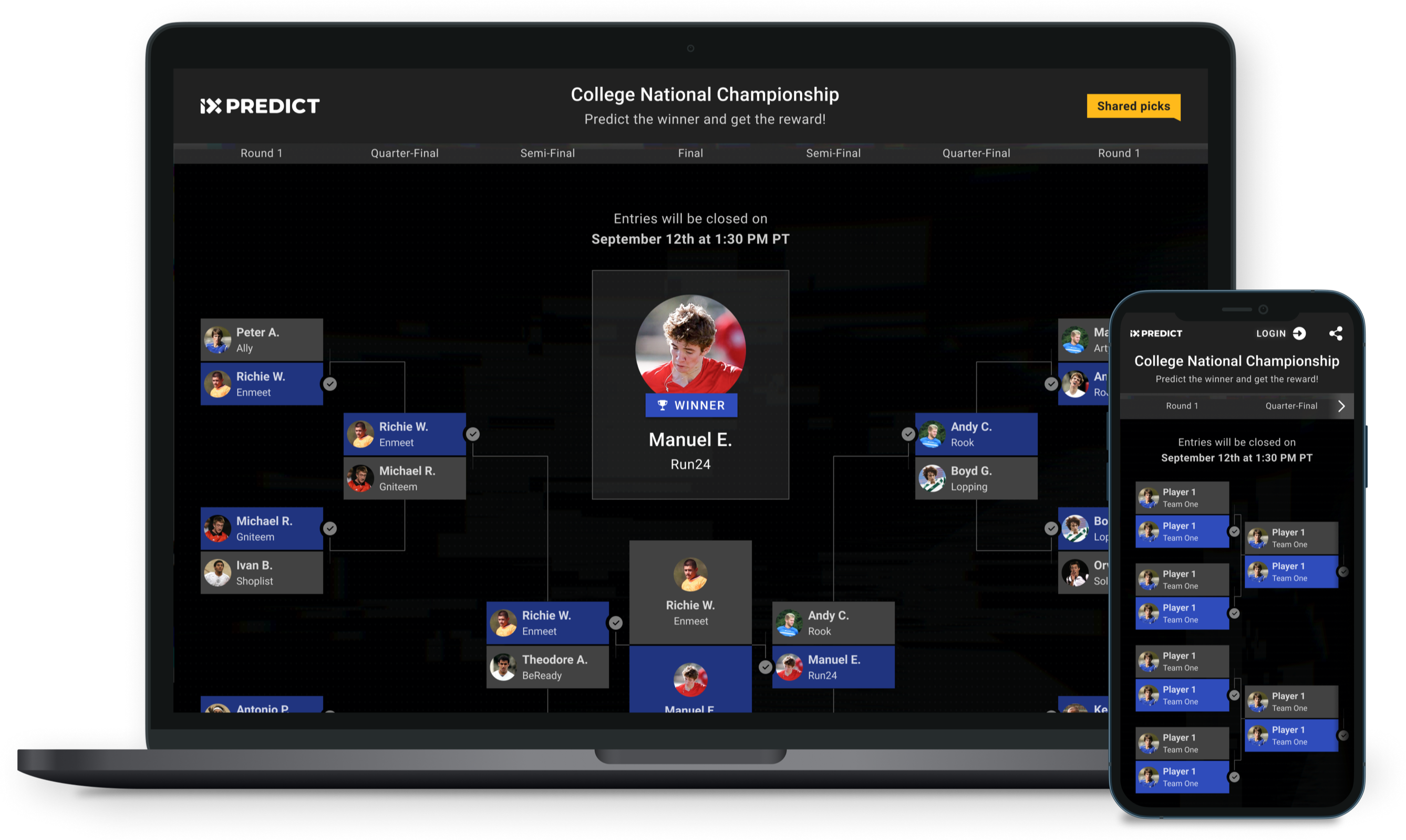Laptop and Phone with ix Predict brackets