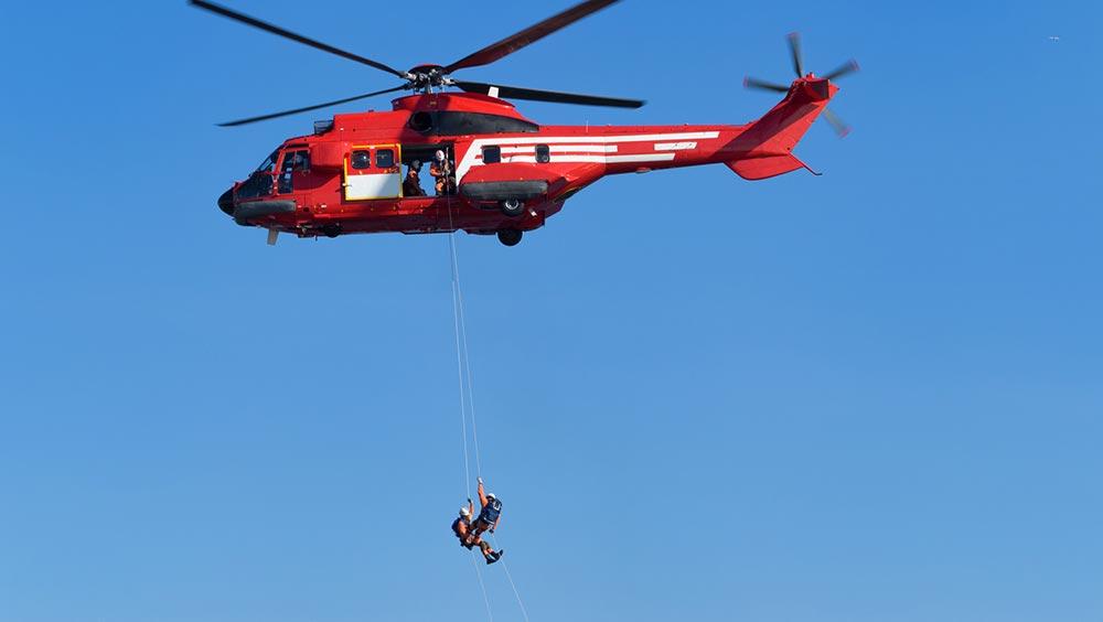 ヘリによる救助