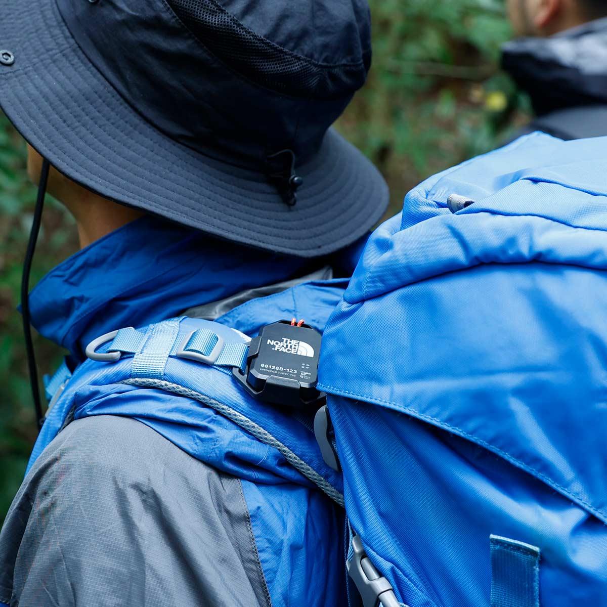 バックパックに専用ホルダーでも付けられます。