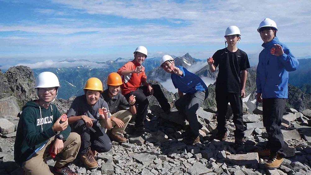 青少年の安全登山を支援する活動