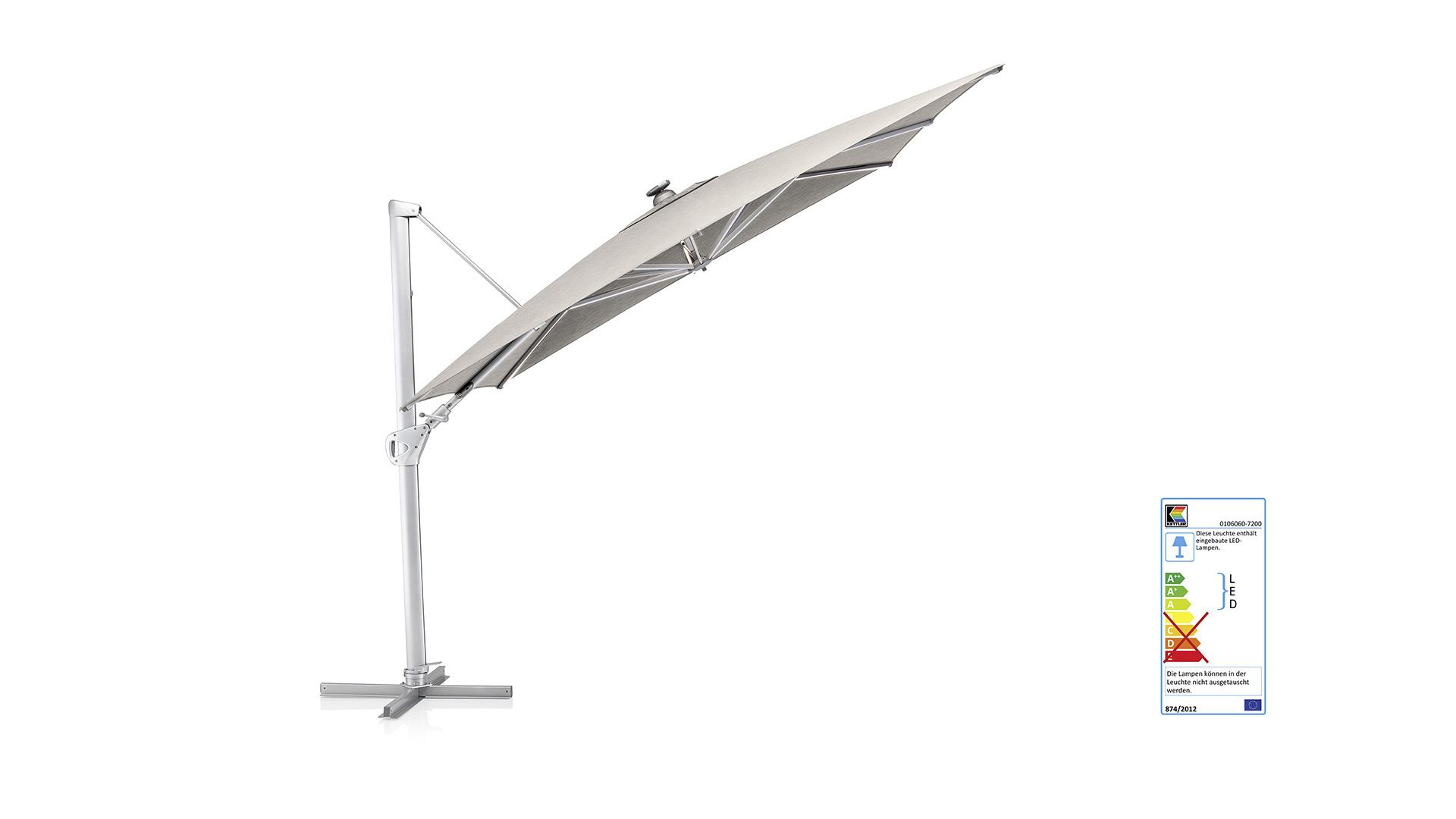 EASY SWING LED Ampelschirm 300 x 300 cm