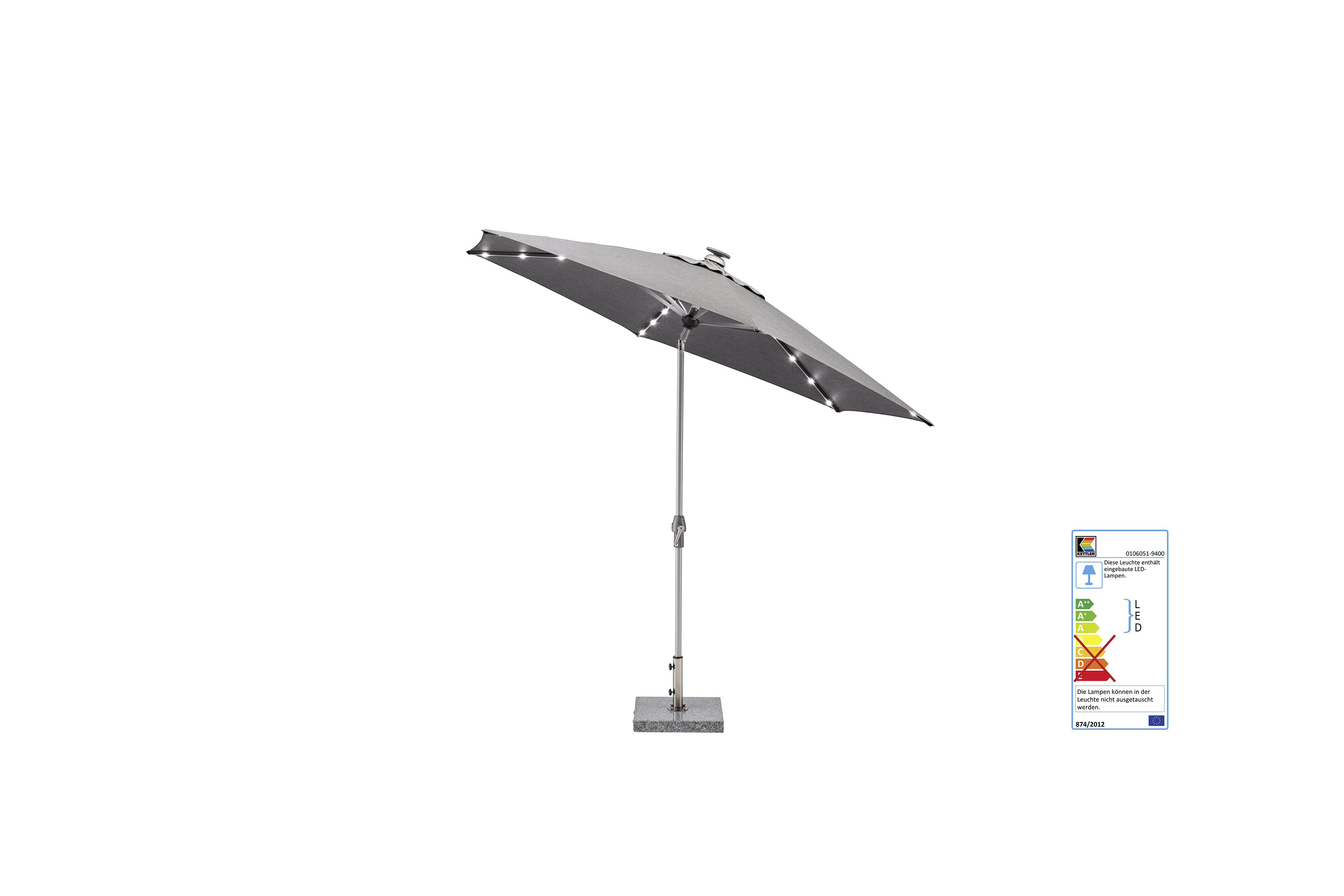 EASY ALLROUND LED Kurbelschirm Ø 300 cm