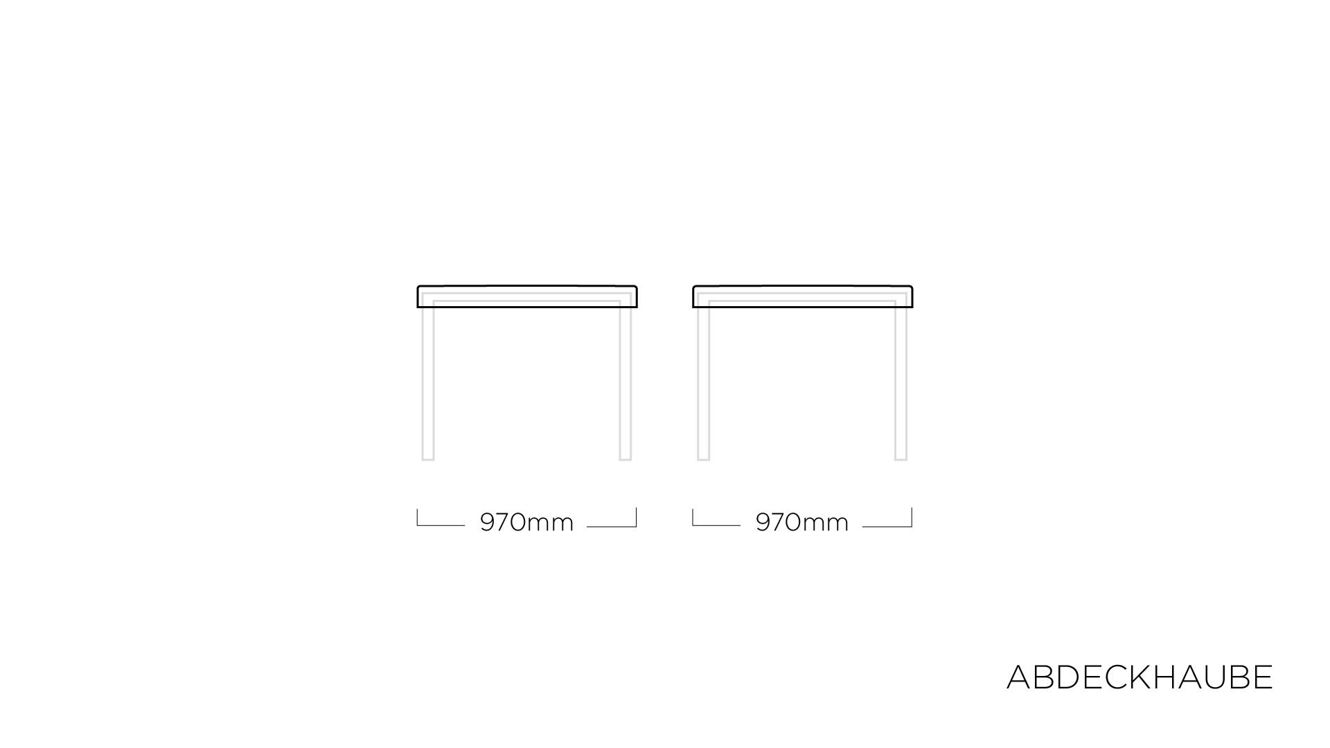 ABDECKHAUBEN für Tischplatte 95 x 95 cm