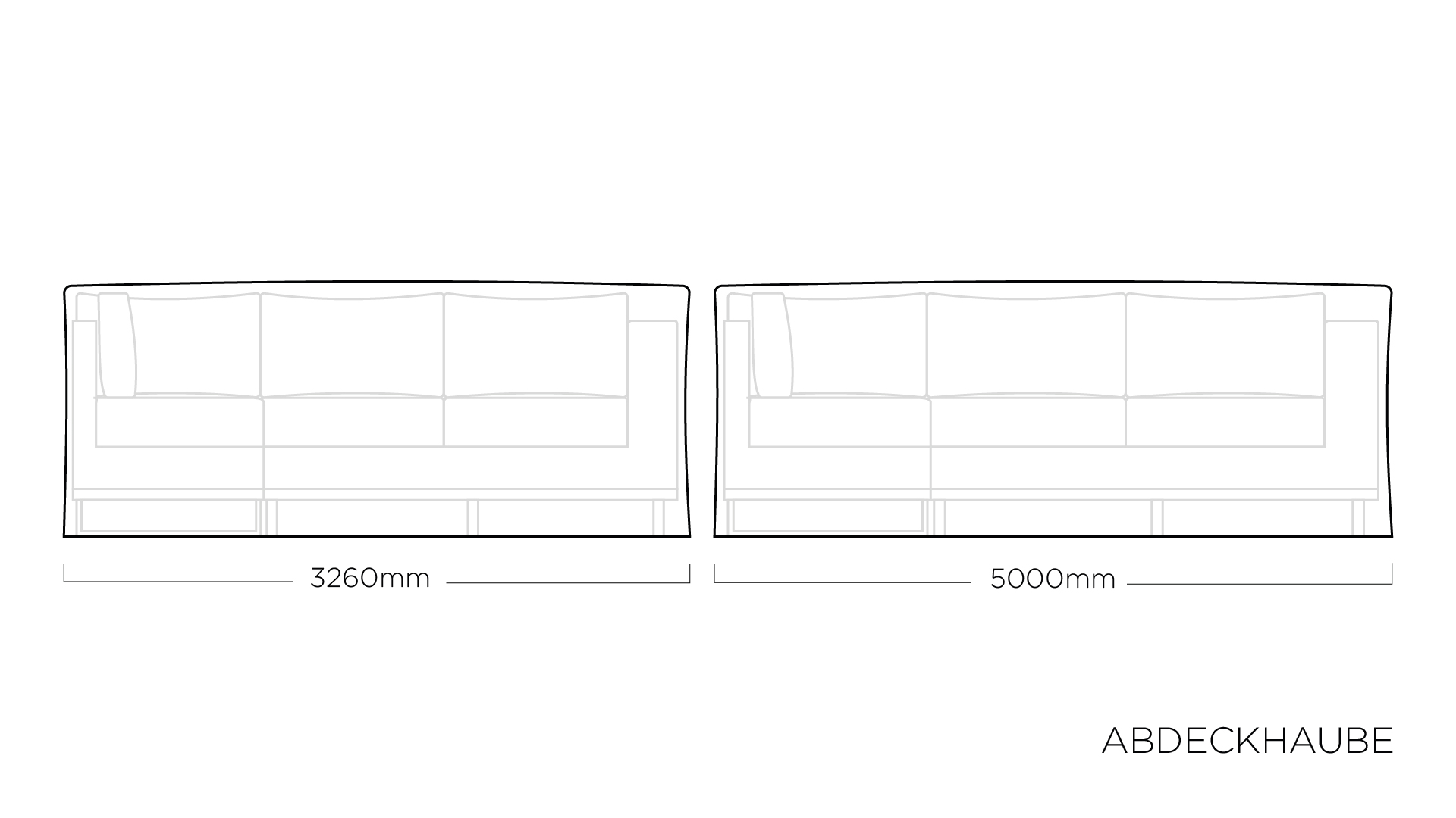 ABDECKHAUBEN Modular 326 x 500 cm
